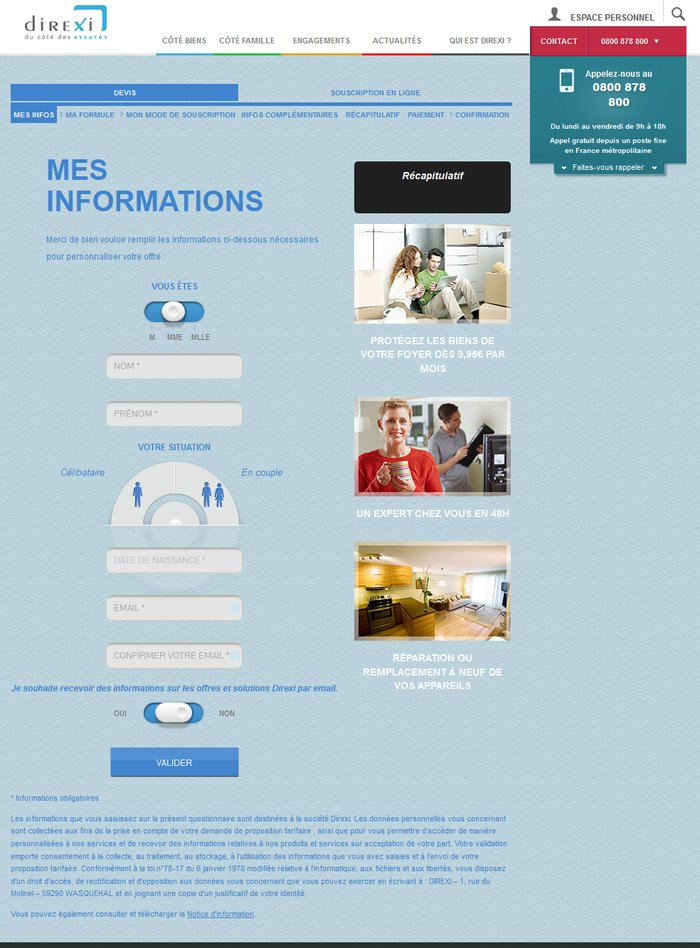 Direxi – Site internet