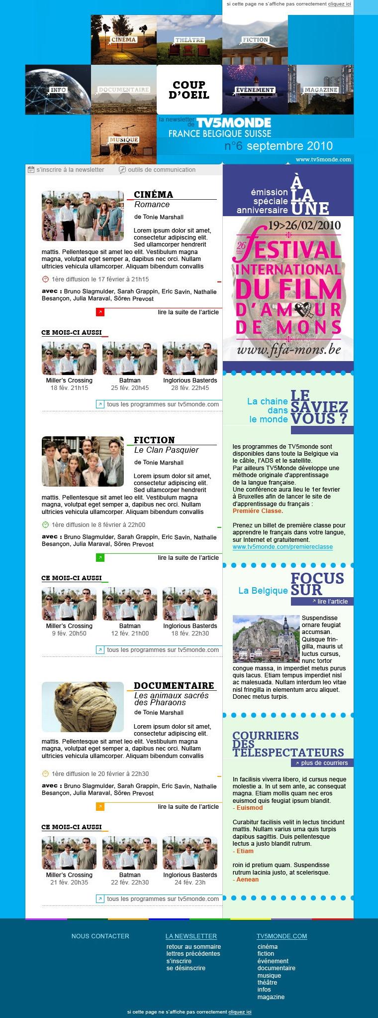 Lettre TV5 Monde FBS