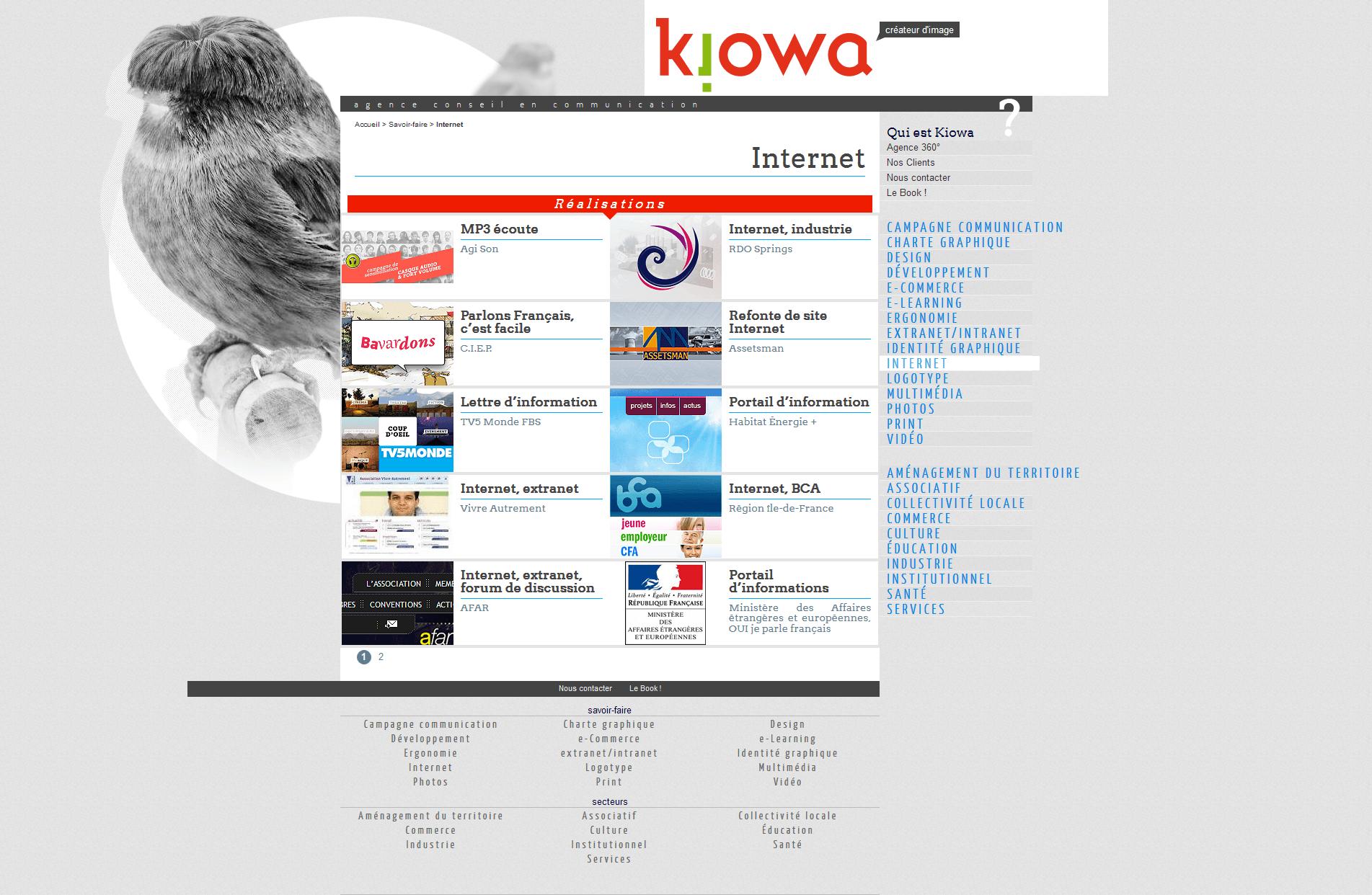 Kiowa, créateur d'image